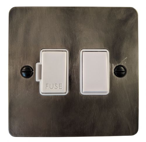 G&H FSL57W Flat Plate Slate 1 Gang Fused Spur 13A Switched